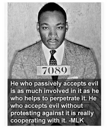 protesting evil