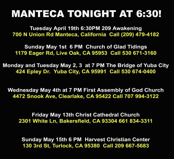 Manteca tonight