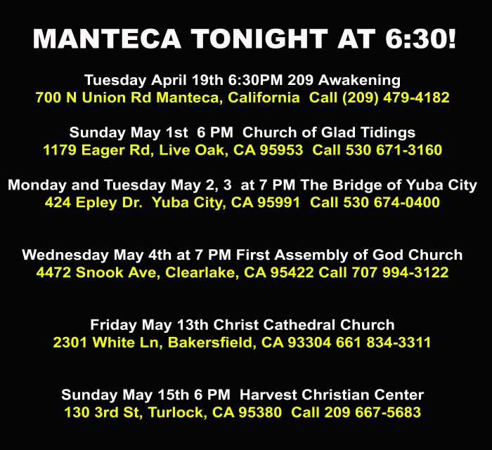 Manteca tonight
