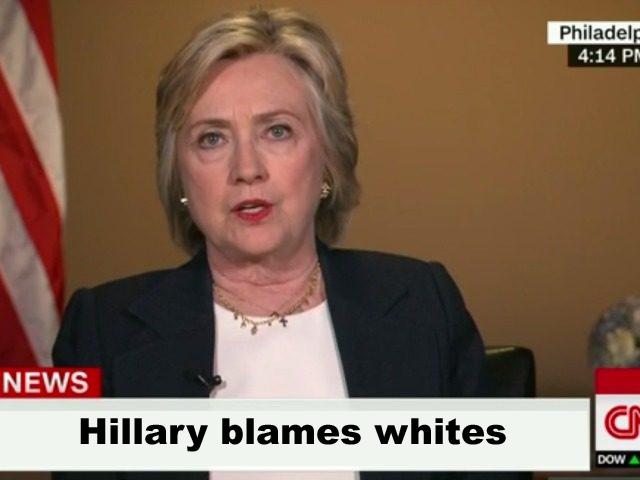 Blames whites